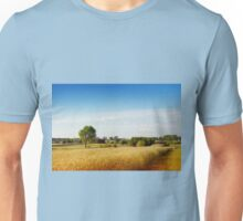 Rural wheat field view Unisex T-Shirt