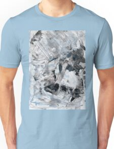 Gray and blue abstract hand painted background. Unisex T-Shirt