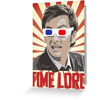Time Lord With 3D Glasses Greeting Card