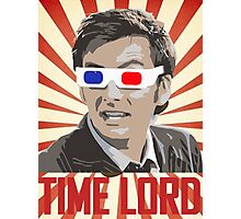 Time Lord With 3D Glasses Photographic Print