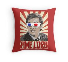 Time Lord With 3D Glasses Throw Pillow