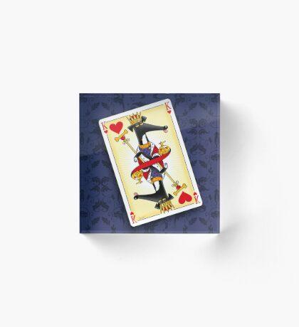 King of Hearts Acrylic Block