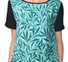 William Morris Willow, Turquoise and Aqua Chiffon Top