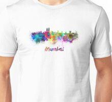 Mumbai skyline in watercolor Unisex T-Shirt