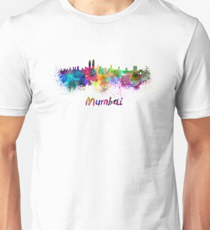 Mumbai skyline in watercolor Unisex T-Shirt