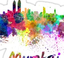 Mumbai skyline in watercolor Sticker