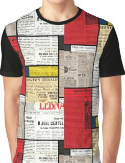 Mondrians News Graphic T-Shirt