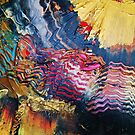 Purple gold yellow abstract by Eraclis Aristidou