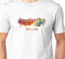 Aberdeen skyline in watercolor Unisex T-Shirt