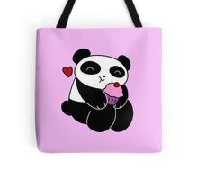 Panda Loves Cupcakes Tote Bag