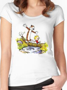 Calvin and Hobbes T-Shirt Women's Fitted Scoop T-Shirt