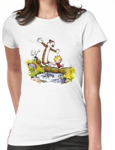 Calvin and Hobbes T-Shirt Womens Fitted T-Shirt