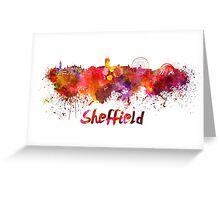 Sheffield skyline in watercolor Greeting Card