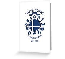 Smash School Veteran Class (Blue) Greeting Card