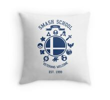 Smash School Veteran Class (Blue) Throw Pillow