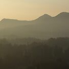 Eildon Hills from Scott's View - winter sky by Babz Runcie