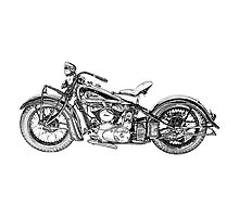 1937 Indian Chief Motorcycle Photographic Print