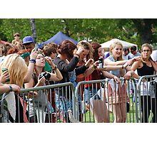 Music festival fans Photographic Print