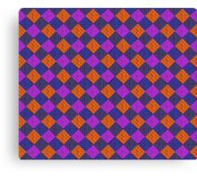 More Like Pixelate Tartan #2 Canvas Print