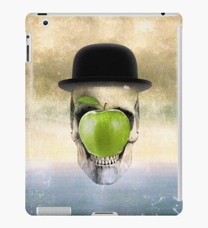 Magritte Skull iPad Case/Skin
