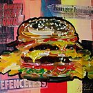 Burger and Chips Abstract Painting by Eraclis Aristidou