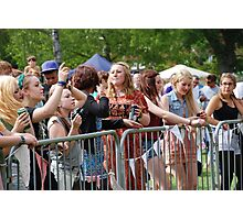 Tentertainment music festival fans Photographic Print