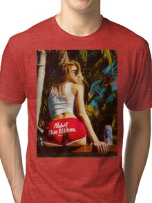 WHITE HOT AMERICA Tri-blend T-Shirt