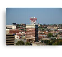 Kansas City - Western Auto Building Canvas Print