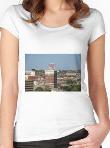 Kansas City - Western Auto Building Women's Fitted Scoop T-Shirt