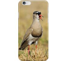 Plover Talk - Funny Nature and Entertaining Wildlife iPhone Case/Skin