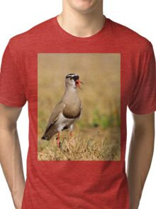 Plover Talk - Funny Nature and Entertaining Wildlife Tri-blend T-Shirt