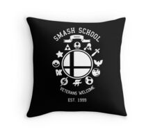 Smash School Veteran Class (White) Throw Pillow