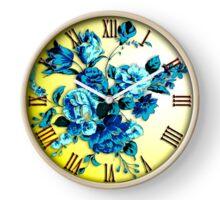 Blue Flowers Clock