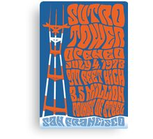 1960's San Francisco Psychedelic Sutro Tower Canvas Print