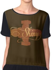 Shiny Serenity Firefly Art Chiffon Top