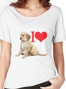 I hart retriever pup Women's Relaxed Fit T-Shirt