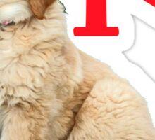 I hart retriever pup Sticker