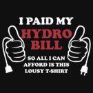 I paid my hydro bill by gorillamask