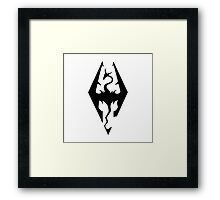 Skyrim Logo Framed Print