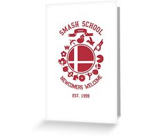Smash School Newcomer (Red) Greeting Card