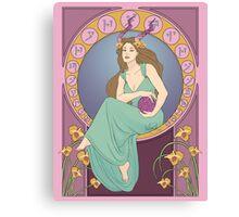 Art Nouveau Dragonborn Kira Canvas Print