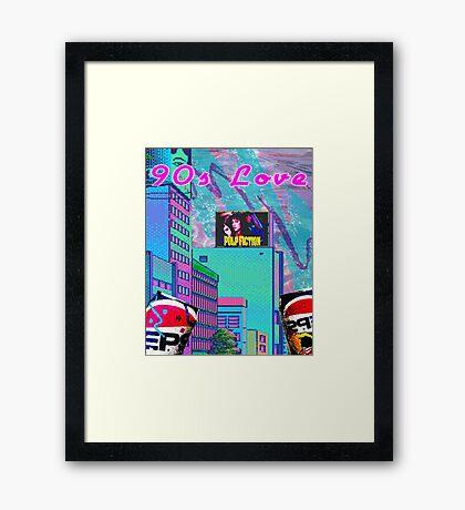 90s Love Framed Print