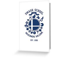 Smash School Newcomer (Blue) Greeting Card