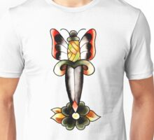 Dagger with butterfly wings Unisex T-Shirt