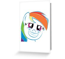 Rainbow Dash Squeaky Smile! Greeting Card