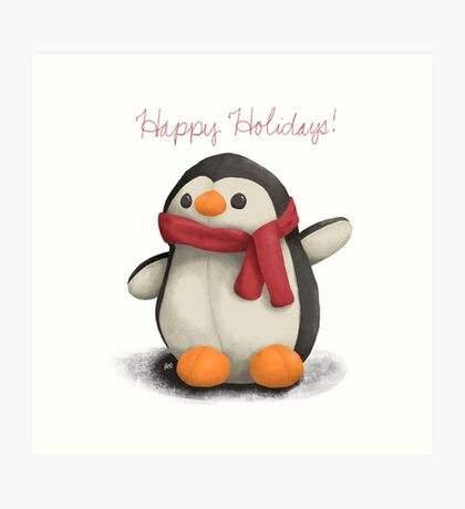 Winchester Holiday Penguin  Art Print