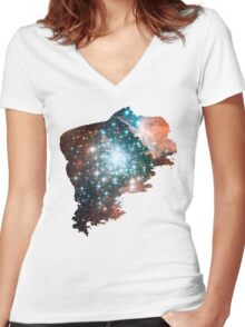 Brush Cosmic Women's Fitted V-Neck T-Shirt