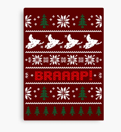 CHRISTMAS SWEATER KNITTED PATTERN Canvas Print