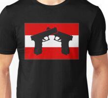 Glock with Austrian Flag Unisex T-Shirt