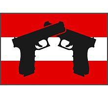 Glock with Austrian Flag Photographic Print